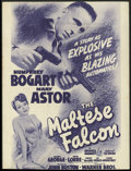 """Movie Posters:Crime, The Maltese Falcon (Warner Brothers, 1941). Herald (8.5"""" X 11.5"""").Humphrey Bogart, as the quintessential film noir detectiv..."""