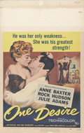 """Movie Posters:Drama, One Desire (Universal International, 1955). Window Card (14"""" X 22""""). Rock Hudson, Anne Baxter, and Julie Harris light up the..."""