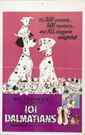 "Movie Posters:Animated, One Hundred and One Dalmatians (Buena Vista, R-1969). Window Card (14"" X 22""). Walt Disney's beloved doggie comedy is one of..."