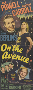 "Movie Posters:Musical, On the Avenue (20th Century Fox, 1937). Insert (13"" X 34.75""). Dick Powell and Madeline Carroll star in this Irving Berlin m..."