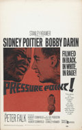 """Movie Posters:Drama, Pressure Point (United Artists, 1962). Window Card (14"""" X 22""""). Sidney Poitier, Peter Falk, and Bobby Darin star in this pri..."""
