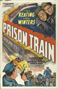 """Movie Posters:Crime, Prison Train (Equity Pictures, 1938). One Sheet (27"""" X 41""""). Low on budget, this crime drama features Fred Keating and Alexa..."""