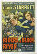 "Movie Posters:Western, Riders of Black River (Columbia, 1939). One Sheet (27"" X 41"").Charles Starrett is Wade Patterson, a Texas Ranger coming hom..."