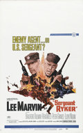"Movie Posters:War, Sergeant Ryker (Universal, 1968). Window Card (14"" X 22""). LeeMarvin, Vera Miles, Peter Graves and Lloyd Nolan star in this..."