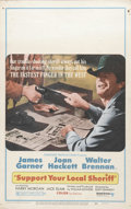 "Movie Posters:Comedy, Support Your Local Sheriff (United Artists, 1969). Window Card (14"" X 22""). James Garner, Joan Hackett, Jack Elam, Henry Mor..."