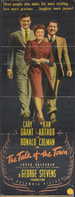 "The Talk of the Town (Columbia, 1942). Insert (12.75"" X 34.75""). Cary Grant stars in this romantic comedy dire..."