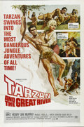 "Movie Posters:Adventure, Tarzan and the Great River (Paramount, 1967). One Sheet (27"" X41""). Tarzan (Mike Henry) and a beautiful doctor (Diana Milla..."
