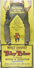 "Movie Posters:Drama, Toby Tyler, or Ten Weeks with a Circus (Buena Vista, 1960). Three Sheet (41"" X 81""). Child star Kevin Corcoran plays second ..."