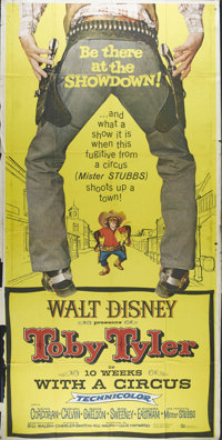 "Toby Tyler, or Ten Weeks with a Circus (Buena Vista, 1960). Three Sheet (41"" X 81""). Child star Kevin Corcoran..."