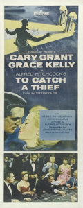 "Movie Posters:Mystery, To Catch a Thief (Paramount, 1955). Insert (14"" X 36""). Alfred Hitchcock treats his favorite theme -- an innocent man falsel..."