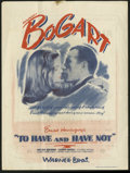 "Movie Posters:Romance, To Have and Have Not (Warner Brothers, 1944). Herald (8.5"" X 11.5""). Humphrey Bogart and Lauren Bacall met and fell in love ..."