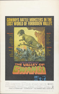 """The Valley of Gwangi (Warner Brothers, 1969). Window Card (14"""" X 22""""). A tiny one-foot-tall horse brings an ev..."""