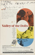 "Movie Posters:Cult Classic, Valley of the Dolls (20th Century Fox, 1967). Window Card (14"" X 22""). Three young women (Barbara Parkins, Patty Duke and Sh..."