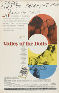 "Valley of the Dolls (20th Century Fox, 1967). Window Card (14"" X 22""). Three young women (Barbara Parkins, Pat..."