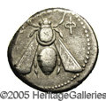 Ancients:Greek, Ancients: Ionia, Ephesos. Ca. 390-325 B.C. AR tetradrachm (24mm,15.01 g). Struck ca. 350-340 B.C. Magistrate Platon. Bee withstraigh...