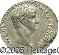 Ancients:Roman, Ancients: Claudius. A.D. 41-54. AR denarius (19 mm). Rome, A.D.41-42. Laureate head right / Legend in three lines within oakwreath. ...