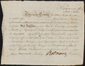 Colonial Notes:Connecticut, Robert Morris Signed Bond North American Land Company April 18,1795 Extremely Fine.. ...