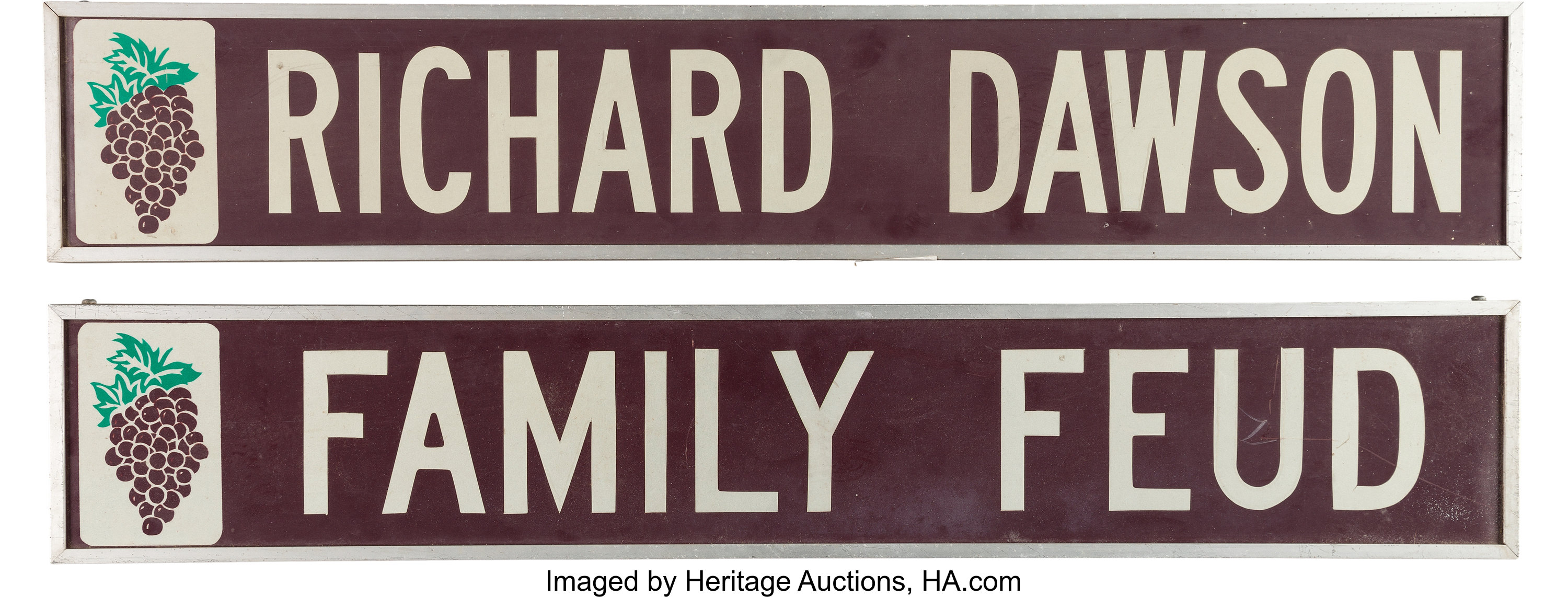 A Richard Dawson Set of Long Signs Related to