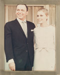Movie/TV Memorabilia:Photos, A Frank Sinatra and Mia Farrow Sterling Silver Picture Frame,1966....