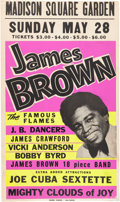 Music Memorabilia:Posters, James Brown Madison Square Garden Concert Poster (circa 1967)....