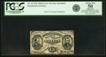 Fractional Currency:Third Issue, Fr. 1274SP 15¢ Third Issue Narrow Margin Face PCGS About New 50 Apparent.. ...