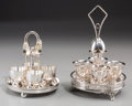 Silver Holloware, Continental, A Harrison Brothers & Howson Silver-Plated Egg Cruet Set withAssociated WMF Silver-Plated Egg Cruet Set, 20th century. Mark...(Total: 2 Items)