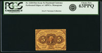 Fr. 1228 5¢ First Issue PCGS Choice New 63PPQ
