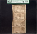 Colonial Notes:Maryland, Maryland April 10, 1774 Uncut Strip of $2-$1-$2/3-$1/3 Fr. MD-67-66-65-63. PCGS Choice About New 55PPQ.. ...