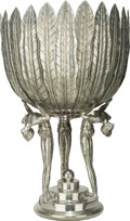 Decorative Arts, Continental, A Large Piero Figura for Atena Figural Pewter Centerpiece, late20th century. Marks: (sun), ETAIN 95%, Figura Piero PERAT...
