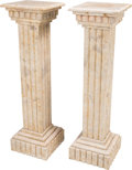 Decorative Arts, Continental, A Pair of Marble Columnar Pedestals, 20th century. 40-1/2 incheshigh (102.9 cm). ... (Total: 2 Items)