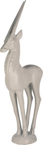 Decorative Arts, Continental:Other , A Large Art Deco Painted Plaster Antelope, 20th century. 56-1/4inches high (142.9 cm). PROVENANCE:. Oviatt Building, Los ...