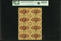 Fractional Currency:First Issue, Fr. 1229 5¢ First Issue Block of Eight PCGS Choice About New 58PPQ.. ...