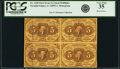 Fr. 1230 5¢ First Issue Block of Four PCGS Very Fine 35