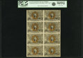 Fractional Currency:Second Issue, Fr. 1247 10¢ Second Issue Block of Eight PCGS Choice About New58PPQ.. ...