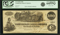 Confederate Notes:1862 Issues, Confederate States of America - T39 $100 1862 PF-6, Cr. 290. PCGSVery Choice New 64PPQ.. ...