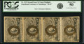 Fractional Currency:Second Issue, Fr. 1233 5¢ Second Issue Vertical Strip of Four PCGS About New 50.. ...