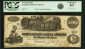 Confederate Notes:1862 Issues, Confederate States of America - T39 $100 1862 PF-5, Cr. 290. PCGSChoice New 63.. ...