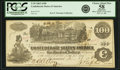 Confederate Notes:1862 Issues, Confederate States of America - T39 $100 1862 PF-5, Cr. 290. PCGSChoice About New 58 Apparent.. ...