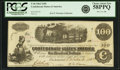Confederate Notes:1862 Issues, Confederate States of America - T40 $100 1862 PF-1, Cr. 299. PCGSChoice About New 58PPQ.. ...