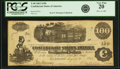Confederate Notes:1862 Issues, Confederate States of America - T40 $100 1862 PF-1, Cr. 298. PCGSVery Fine 20.. ...