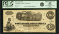 Confederate Notes:1862 Issues, Confederate States of America - T40 $100 1862 PF-1, Cr. 298. PCGSChoice About New 55 Apparent.. ...