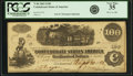 Confederate Notes:1862 Issues, Confederate States of America - T40 $100 1862 PF-1, Cr. 298. PCGSVery Fine 35.. ...