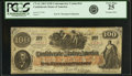 Confederate Notes:1862 Issues, Confederate States of America - CT41 $100 1862 CT41/316A. PCGS Very Fine 25.. ...