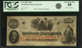 Confederate Notes:1862 Issues, Confederate States of America - T41 $100 1862 PF-13, Cr. 321A. PCGSExtremely Fine 40.. ...