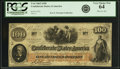 Confederate Notes:1862 Issues, Confederate States of America - T41 $100 1862 PF-6, Cr. 319. PCGSVery Choice New 64.. ...