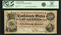 Confederate Notes:1864 Issues, Confederate States of America - T64 $500 1864 PF-2, Cr. 489. PCGS Very Fine 30 Apparent.. ...