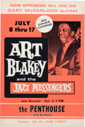Music Memorabilia:Posters, Art Blakey And The Jazz Messengers The Penthouse Concert Poster(1960s). Extremely Rare....