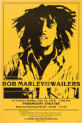 Music Memorabilia:Posters, Bob Marley And The Wailers Paramount Theatre Concert Poster (StormyWeather Productions, 1978). Very Rare....