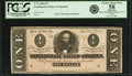 Confederate Notes:1864 Issues, Confederate States of America - T71 $1 1864 PF-1, Cr. 586. PCGS Choice About New 58 Apparent.. ...