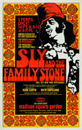 Music Memorabilia:Posters, Sly And The Family Stone Madison Square Garden Concert Poster(1971)....